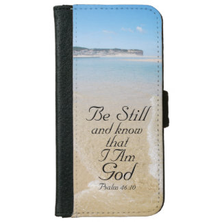 Psalm 46 Be Still and Know I AM GOD, Ocean View iPhone 6 Wallet Case