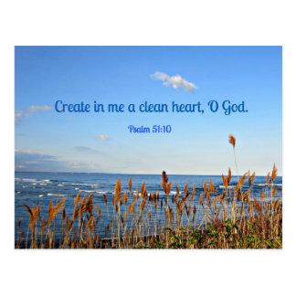 Psalm 51:10 Create in me a clean heart.... Postcard