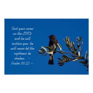 Psalm 55:22 poster