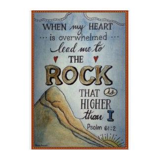 Psalm 61:2 acrylic print