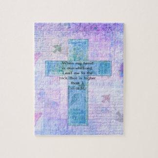 Psalm 61:2 Beautiful Bible verse & Christian art Jigsaw Puzzle