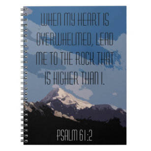 Psalms 61:2When Your Heart Is OverwhelmedPoster InspirationalScripture