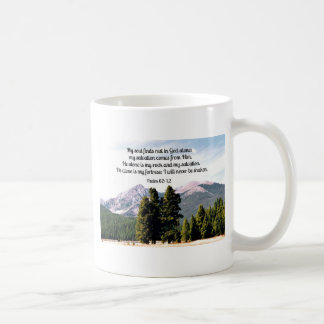 Psalm 62:1,2 coffee mug