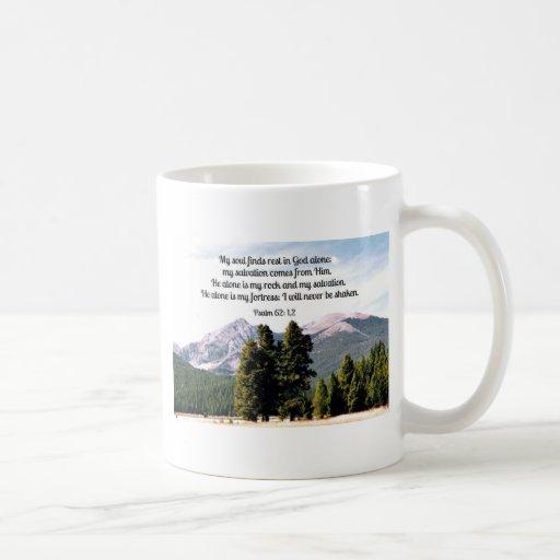 Psalm 62:1,2 mug