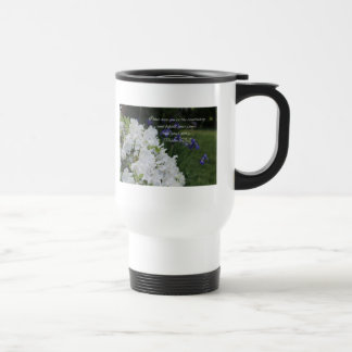 Psalm 63:2 White Azalea Travel Mug