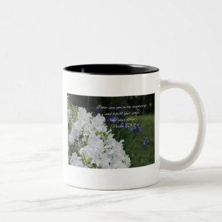 Psalm 63:2 White Azalea Two-Tone Coffee Mug