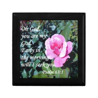 Psalm 63 small square gift box