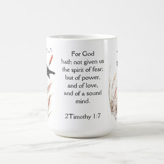 Psalm 65:5 Bible Scripture God has given Blackbird Coffee Mug