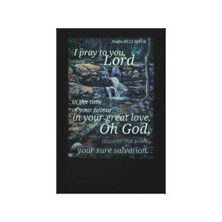 Psalm 69:13 canvas print