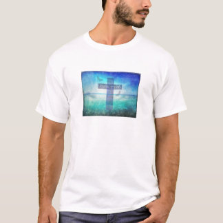 Psalm 73:26  with inspirational contemporary Cross T-Shirt
