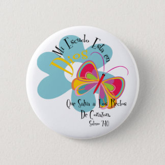 Psalm 7:10 6 cm round badge