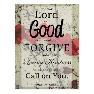 Psalm 86:5 Forgiveness Postcard