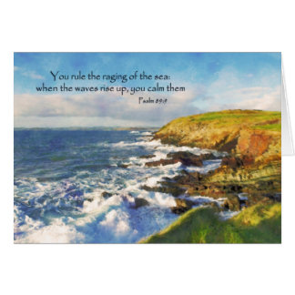 Psalm 89:9 Cliffs at Galley Head, Cork Ireland Card