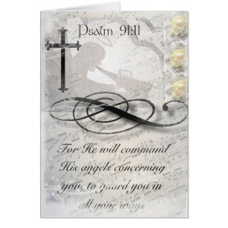 Psalm 91:11 Angel Note Card