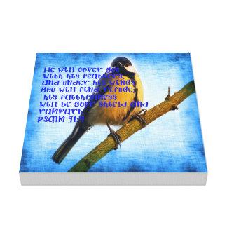 Psalm 91:4 Faithfullness Canvas Print