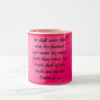 Psalm 91:4 mug
