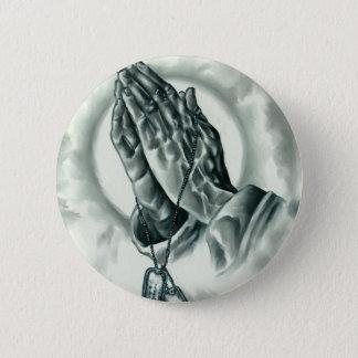 Psalm 91 6 cm round badge