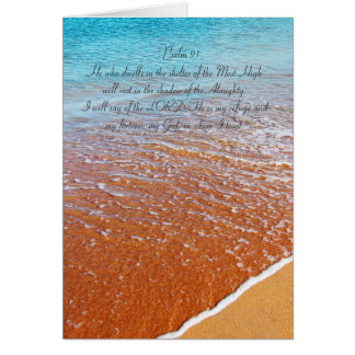 Psalm 91 all text, seaside card