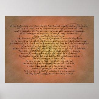 Christian Poster: Psalm 91