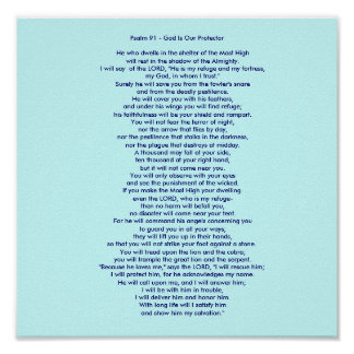 Psalm 91 - God Is Our Protector Poster