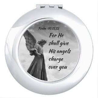 Psalm :91  He Shall Give His Angels Inspirational Makeup Mirror