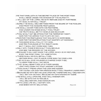 Psalm 91 KVJ Postcard