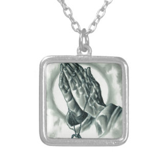Psalm 91 silver plated necklace