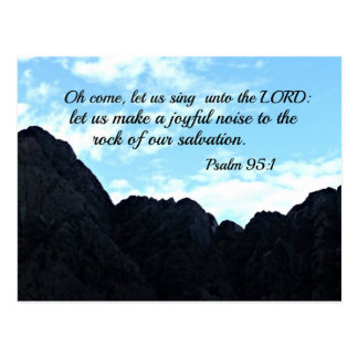 Psalm 95:1 O come, let us sing unto the Lord Postcard