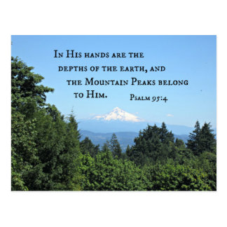 Psalm 95:4 In His hands are the depths Postcard