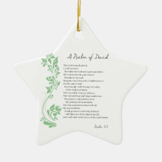 Psalm of David The Lord is my Shepherd Bible Verse Ceramic Star Decoration