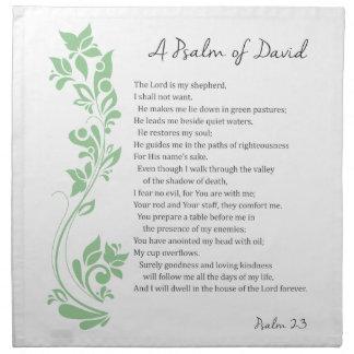 Psalm of David The Lord is my Shepherd Bible Verse Napkin