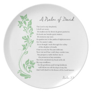 Psalm of David The Lord is my Shepherd Bible Verse Plate