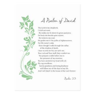 Psalm of David The Lord is my Shepherd Bible Verse Postcard