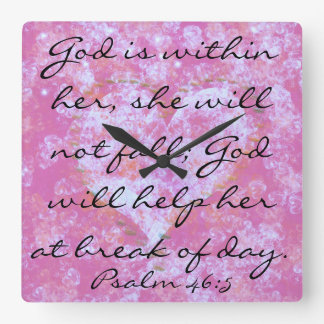 Psalm scripture God is within her wall clock