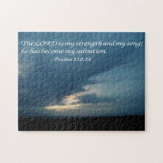 Psalms 118:14 jigsaw puzzle