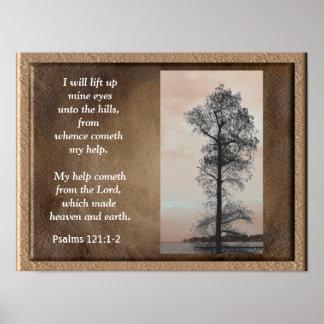 Psalms 121:1-2 ~Lift up mine eyes~ Art print