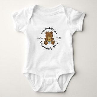 Psalms 139:14 Design Baby Bodysuit