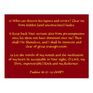 Psalms 19:12-14 (AMP) Postcard