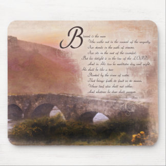 Psalms 1:1-3 Blessed is the man who... Mouse Pad