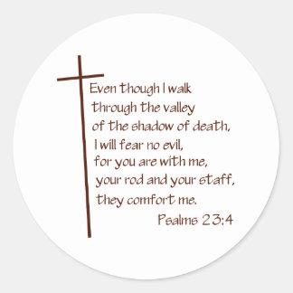 Psalms 23:4 stickers