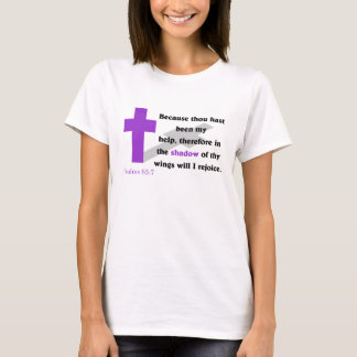 Psalms 63:7 Women's Apparel T-Shirt