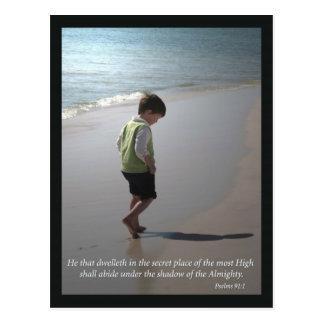 Psalms 91:1 postcard