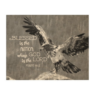 Psalms Bible Verse God is Lord Wood Canvases