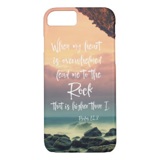 Psalms Lead me to the Rock Bible Verse iPhone 8/7 Case