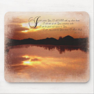 Psalms & Sunsets, Bible Verse Inspirationals Mouse Pad
