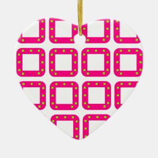 PSG Dots Ceramic Heart Decoration