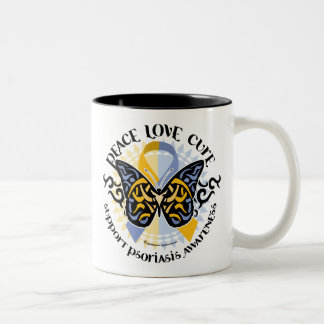 Psoriasis Butterfly Tribal 2 Coffee Mug