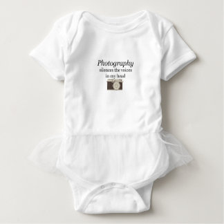 pstvimhPhotography silences the voices in my head Baby Bodysuit