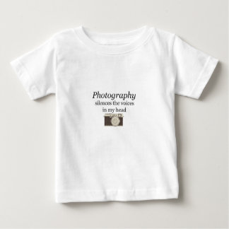 pstvimhPhotography silences the voices in my head Baby T-Shirt