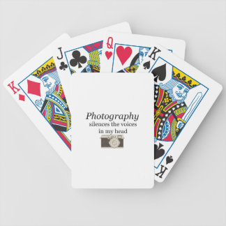 pstvimhPhotography silences the voices in my head Bicycle Playing Cards